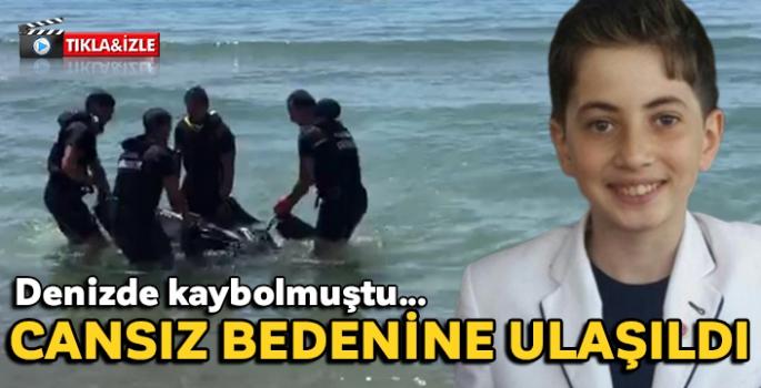 Denizde kaybolan 16 yaşındaki gencin cansız bedenine ulaşıldı