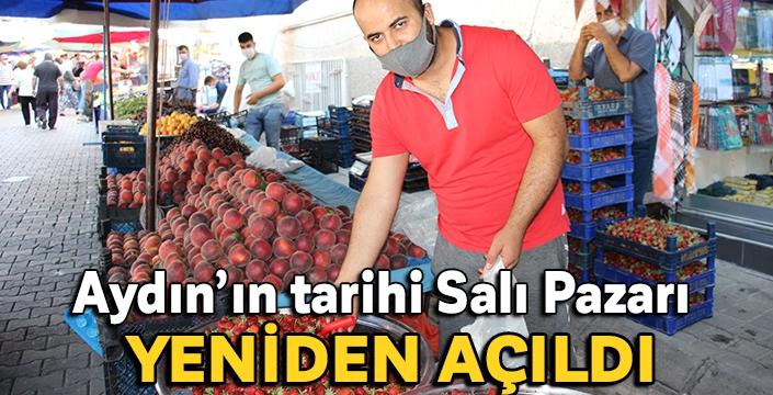 Aydın'ın tarihi Salı Pazarı yeniden açıldı