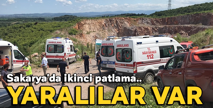 Sakarya'da ikinci patlama: Yaralılar var